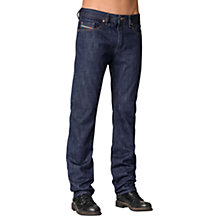 Buy Diesel Buster Tapered Jeans, 076C Mid Blue Selvedge Online at johnlewis.com