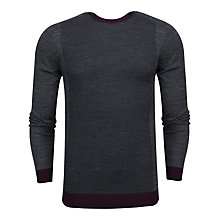 Buy Ted Baker Lewcat Colour Block Jumper, Grey Online at johnlewis.com