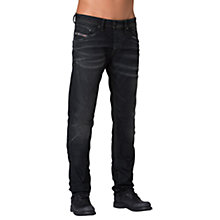 Buy Diesel Belther Regular Slim Tapered Jeans, Washed Black Online at johnlewis.com