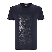 Buy Diesel T-Joe AU Skull Graphic T-Shirt, Navy Online at johnlewis.com