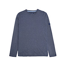 Buy Joules Bretton Stripe Long Sleeve T-Shirt, Navy/White Online at johnlewis.com