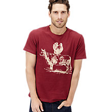 Buy Joules Harborough Bicycle Print T-Shirt, Red Online at johnlewis.com
