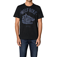 Buy Diesel Jo Wolf Print Tee, Black Online at johnlewis.com