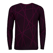 Buy Ted Baker Carguy Zigzag Pattern Wool Jumper, Dark Purple Online at johnlewis.com
