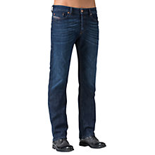 Buy Diesel Waykee Regular Straight Jeans, Mid Blue Online at johnlewis.com