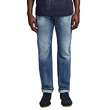 Buy Diesel Larkee Relaxed Comfort Straight Jeans, 848C Mid Blue Online at johnlewis.com