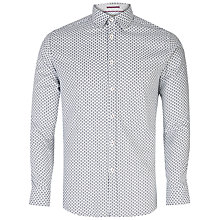 Buy Ted Baker Newgent Floral Print Shirt, White Online at johnlewis.com