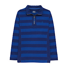 Buy Joules Dale Striped Half Zip Top, Boat Blue Online at johnlewis.com