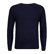 Buy Ted Baker Morrelo Textured Raglan Sleeve Jumper, Deep Purple Online at johnlewis.com