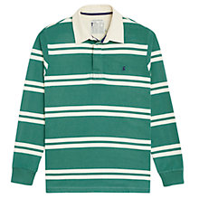 Buy Joules Woodall Stripe Rugby Shirt, College Green Online at johnlewis.com