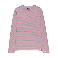 Buy Joules Bretton Stripe Long Sleeve Tee, Red Online at johnlewis.com