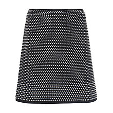 Buy French Connection Diamond Rock Jersey Skirt, Black Online at johnlewis.com