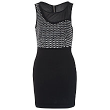 Buy French Connection Diamond Rock Jersey Dress, Black Online at johnlewis.com
