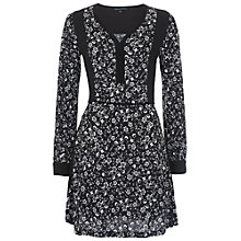 Buy French Connection Daisy Rave Jersey Dress, Black/White Online at johnlewis.com