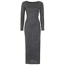 Buy French Connection Bianca Lurex Midi Dress, Black Online at johnlewis.com