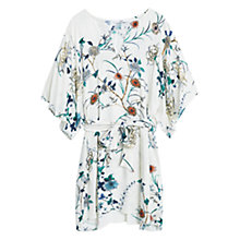 Buy Mango Floral Print Dress, Light Beige Online at johnlewis.com