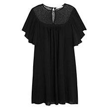 Buy Mango Panel Contrast Dress, Black Online at johnlewis.com