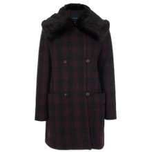 Buy French Connection Highland Wool Coat, Biker Berry Online at johnlewis.com