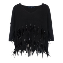Buy French Connection Fairy Feather Knits Jumper, Black Online at johnlewis.com