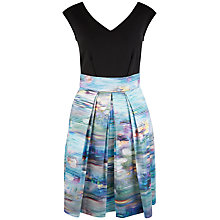 Buy Closet V-Neck Box Pleat Dress, Multi Online at johnlewis.com