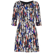 Buy French Connection Record Ripple Drape Floral Dress, Multi Online at johnlewis.com