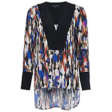 Buy French Connection Record Ripple Drape Tunic Top, Multi Online at johnlewis.com
