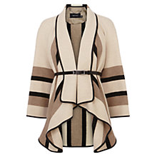 Buy Karen Millen Fluid Stripe Cape Coat, Neutral Online at johnlewis.com