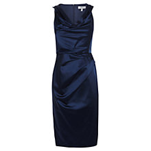 Buy Coast Osanna Duchess Satin Dress, Navy Online at johnlewis.com