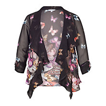 Buy Chesca Butterfly Border Shrug, Black Multi Online at johnlewis.com