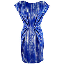 Buy Closet Stripe Pleat Waist Dress, Blue Online at johnlewis.com