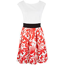 Buy Closet Floral V-Back Box Pleat Dress, Multi Online at johnlewis.com