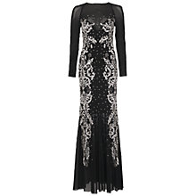 Buy French Connection Aspen Mesh Maxi Dress, Black/Silver Online at johnlewis.com