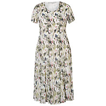 Buy Chesca Hibiscus Pleat Dress, Powder Pink Online at johnlewis.com
