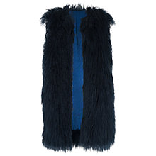 Buy French Connection Chicago Faux Fur Gilet, Black Online at johnlewis.com