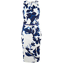Buy Closet Floral Pencil Dress, Blue Online at johnlewis.com