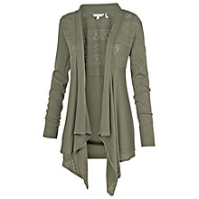 Buy Fat Face Perido Cali Waterfall Cardigan, Green Online at johnlewis.com