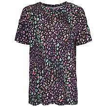 Buy French Connection Electric Leopard Tee, Black Multi Online at johnlewis.com