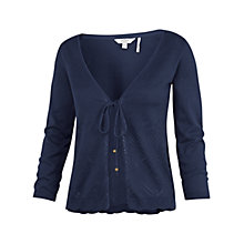 Buy Fat Face Hetti Tie Front Cardigan, Navy Online at johnlewis.com