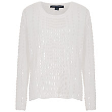 Buy French Connection Iggy Glimmer Knit Jumper, Winter White Online at johnlewis.com