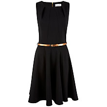 Buy Closet Low Neck Panel Belted Dress, Black Online at johnlewis.com