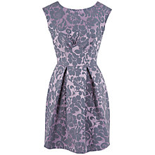 Buy Closet Damask V-Back Skater Dress, Purple Online at johnlewis.com