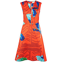 Buy Closet Floral V-Neck Dress, Multi/Gold Online at johnlewis.com