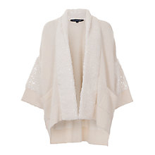 Buy French Connection Frosty Polar Cardigan, Winter White Online at johnlewis.com