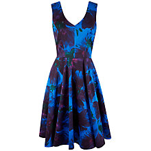 Buy Closet V-Neck Floral Full Dress, Multi Online at johnlewis.com