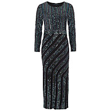 Buy French Connection Diana Swirl Sequin Dress, Black Online at johnlewis.com