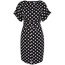 Buy Closet Polka Dot Split Dress, Black/White Online at johnlewis.com