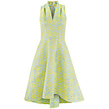 Buy Closet Jacquard High Low Dress, Multi/Gold Online at johnlewis.com