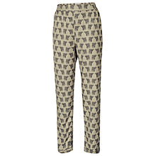 Buy Fat Face Printed Twill Trousers, Ivory Online at johnlewis.com