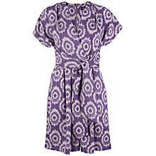 Buy Closet Cross Over Flared Dress, Purple Online at johnlewis.com