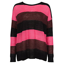 Buy French Connection Striped Jumper, Black/Multi Online at johnlewis.com